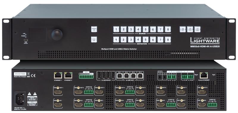 MMX8x8-HDMI-4K-A-USB20